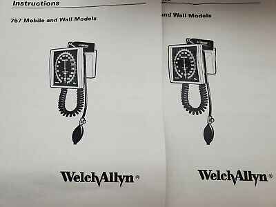 Lot Of 2 New Welch Allyn 767 Series Wall Blood Pressure Gauge 7670-01 Wcuff