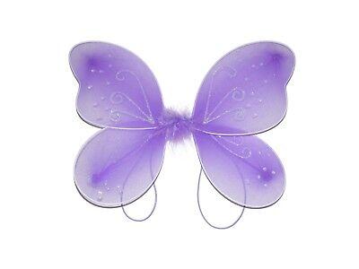 X12 WHOLESALE BULK GIRLS SMALL SWIRL LILAC FAIRY WINGS GLITTER FANCY DRESS UP](Bulk Fairy Wings)