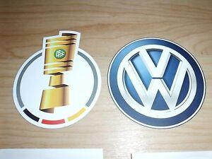 NEU DFB POKAL + VW Patch Saison 16/17 Logo Badge Lextra Matchworn Schalke usw