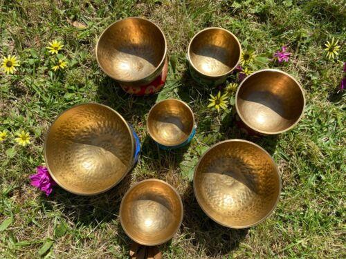 Singing bowl set of 7-hand Beaten singing bowl set of 7-Chakra Healing set-Nepal