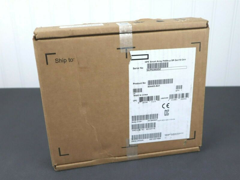 HPE Smart Array P408e-p SR Gen10 Controller 836270-001 804407-001 804405-B21 NEW