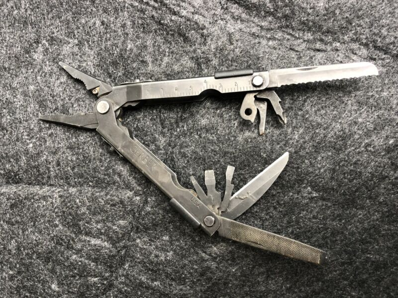 Gerber MP600 Black Oxide Multi Tool Pliers Carbide cutters Army Stainless Steel