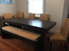 West Elm table with bench and 6 chairs Bondi Beach Eastern Suburbs Preview
