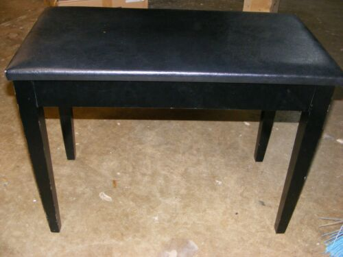 Ebony Lite Padded DUET Piano Bench With Straight LEGS and Storage