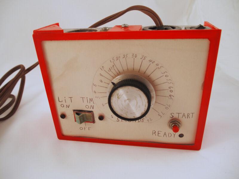 Rare Homemade UNIQUE DARKROOM TIMER Photography Red