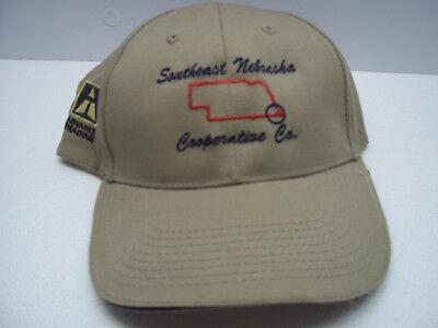 Southeast Nebraska Cooperative Trucker Hat Beige Adjustable