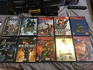 PlayStation 2 games. Various prices