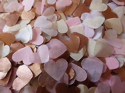 2000 Rose Gold/Copper Pink Mix Hearts Throwing Wedding Confetti Decoration