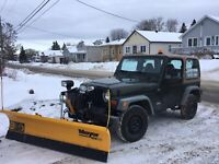 Snow plowing in North Bay