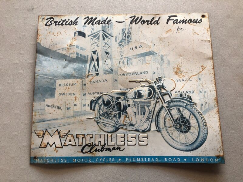 MATCHLESS Clubman 1949 motorcycle Metal Sign British world famous 1993 Vintage