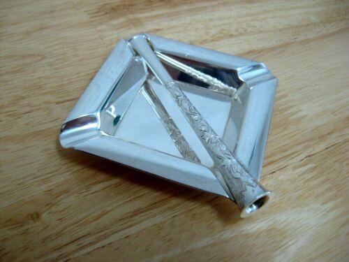 """Vintage 4"""" Sterling Silver 950 Cigarette Holder and Ashtray"""