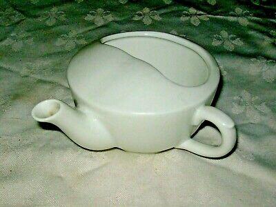 A Vintage Hospital Medical White Ceramic Invalid Feeder Cup