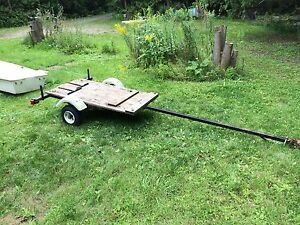 Small Flatbed Utility Trailer