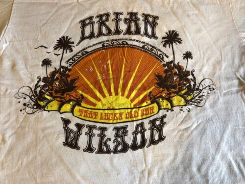"""Brian Wilson Event T-Shirt """"That Lucky Old Sun"""" Tour Paramount Theatre Sep 5 08"""