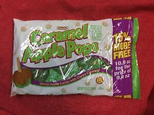 TOOTSIE 9.4 oz Bag CARAMEL APPLE POPS Green Candy w/Chewy Caramel LOLLIPOPS