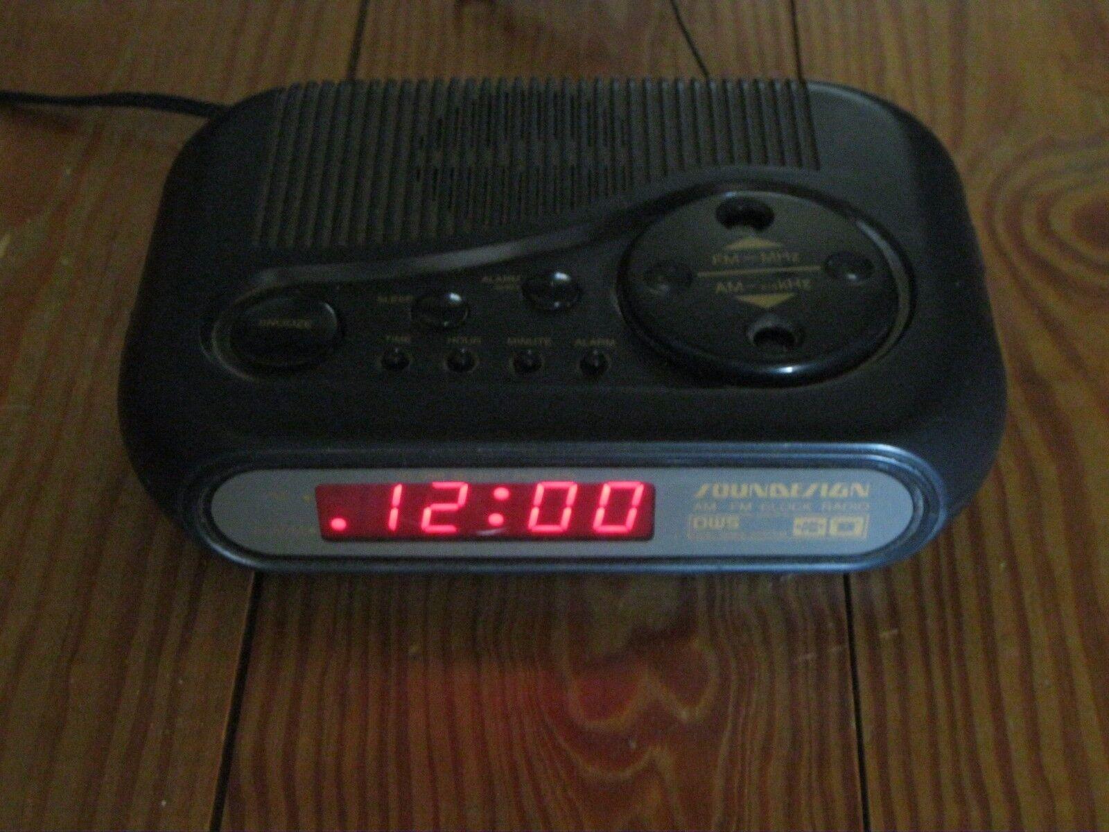 Soundesign black clock radio 3614blk