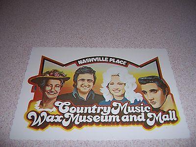 1970s COUNTRY MUSIC WAX MUSEUM and MALL NASHVILLE TN. VTG (Nashville Tn Mall)