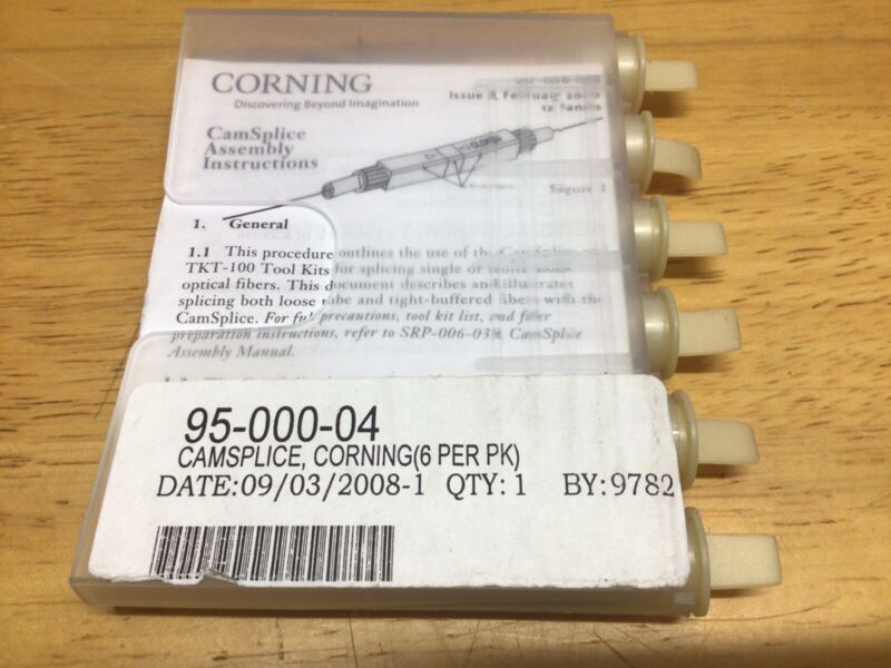 Corning 95-000-04 CamSplice Mechanical Connectors For SM/MM (Pack Of 6ea)
