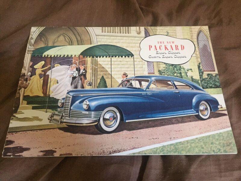 1946 1947 Packard Custom Clipper Original Prestige Brochure Catalog Prospekt