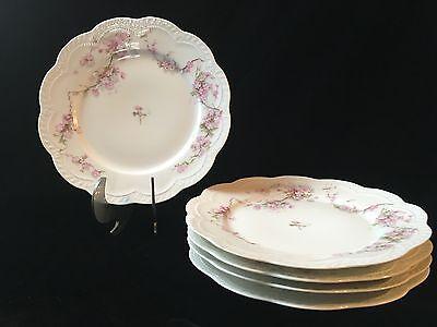 "H & Co HAVILAND Schleiger Limoges SCH248 - Set of 5 Luncheon Plates - 8 1/2"""