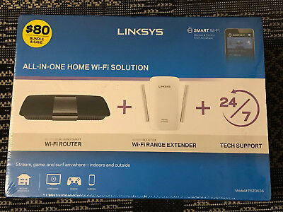 Linksys F5Z0636 All-in-One Home WiFi Solution AC1750 Router AND AC1200 (Linksys All In One Home Wifi Solution)