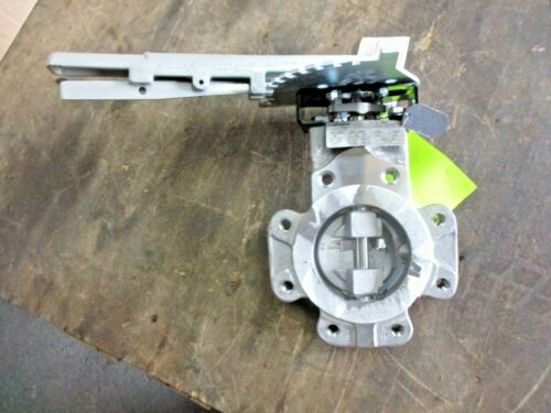 """FLOWSERVE / DURCO 4"""" STAINLESS BUTTERFLY VALVE, #3181004JW NEW"""
