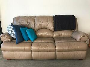 Leather Lounge - Good Condition - Lyneham Lyneham North Canberra Preview