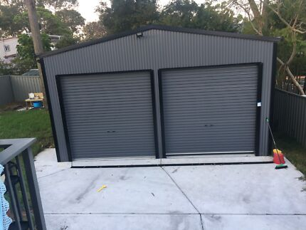 Shed garage sheds storage gumtree australia free local large double garage shed solutioingenieria Gallery