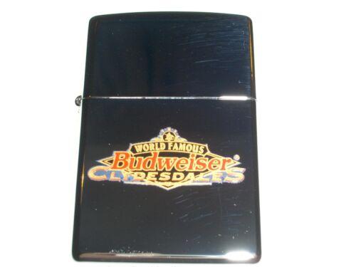Zippo Bud Budweiser Anheuser Busch World Famous Clydesdales Horses 1998 Lighter