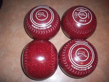 Taylor REDLINE SR Lawn Bowls 4H WB18 Red Speckled Gripped Surfers Paradise Gold Coast City Preview