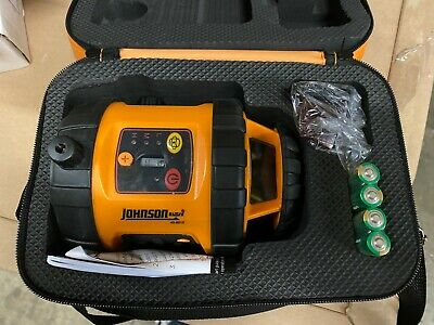 Johnson Self-leveling Rotary 800 Laser Level With Glasses And Case