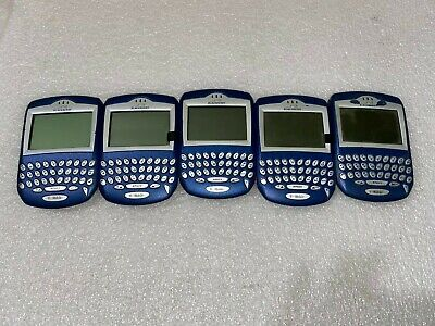 **LOT OF 5** BlackBerry 6230 - Blue Smartphone (T-Mobile)  TESTED AND WORKING