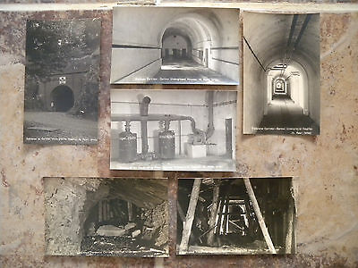 GERMAN UNDERGROUND HOSPITAL St.PETER JERSEY WW2 SET OF SIX REAL PHOTO CARDS MINT