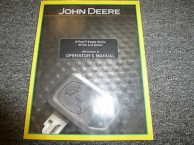 John Deere Z510a Z520a Estate Ztrak Mower Owner Operator Manual Omtcu26007