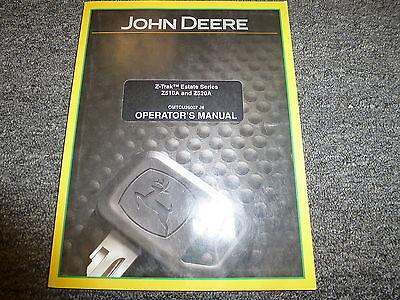 John Deere Z510a Z520a Estate Ztrak Mower Owner Operator Manual Omtcu26007