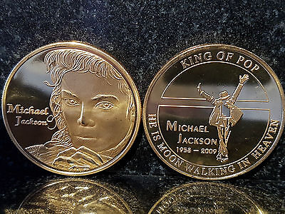 Michael Jackson Moon Walking in Heaven King Of POP Coin Gold MJ Hall of Fame US