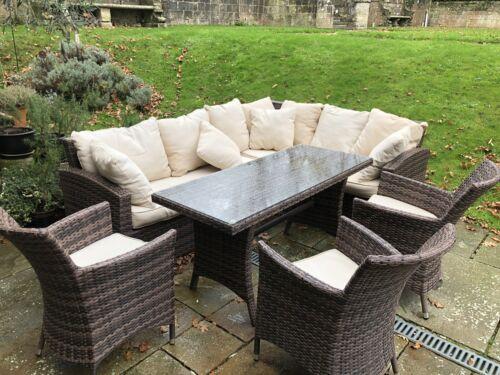 Garden Furniture - Outdoor Polyrattan garden furniture set used