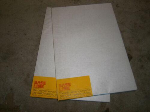 Pre Ruled Masking Sheets Base Line Multi 1330 1360 1650 12 7/8 X18 1/4 200 pcs.