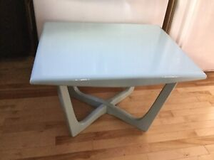 Light blue small single coffee table- avail