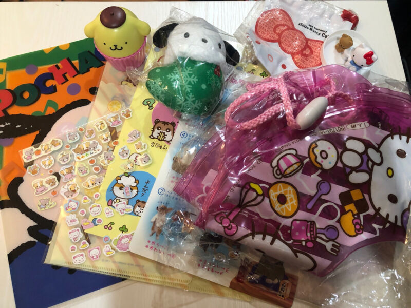 Sanrio San-x Kawaii Vintage Retro Items  Lot of 11Hello kitty Pochacco Pompompur