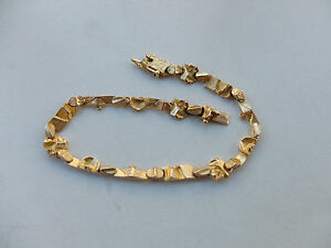 Lapponia Finnland Armband  in 585 Gold H8 ( 1985)