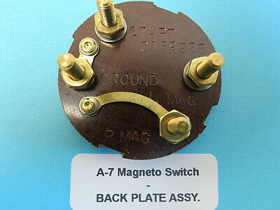 Type Backplate - Type A-7 Mag Magneto Switch Replacement Backplate T-6 SNJ Piper Cub Stearman.