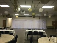 Backdrop and chair cover sale