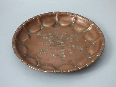 ARTS CRAFTS COPPER FRUIT BOWL SWEET DISH TRINKET CARD PLATE X31 21CM FREE UK P+P