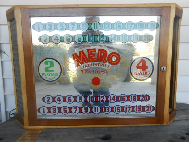 Antique Mero Industries Shuffleboard Scoreboard Chicago