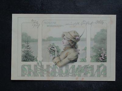 KINDER - Mädchen mit Hut Weihnachten - ca. 1909 ()