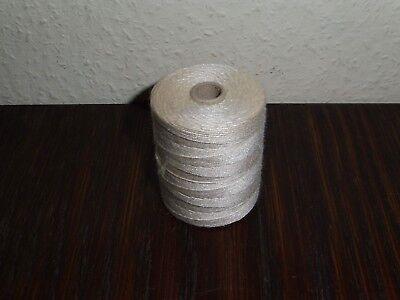 (0,10€/g) 1 Rolle alter weißer/creme Zwirn Zellwollzwirn 50gr.