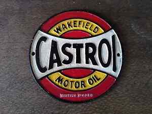 Cast Iron Castrol Wakefield Motor Oil Roundel Sign Tea Tree Gully Tea Tree Gully Area Preview