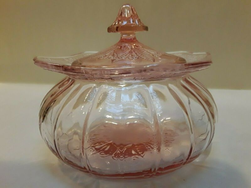 """""""Adam,"""" Pink Candy Jar and Cover"""