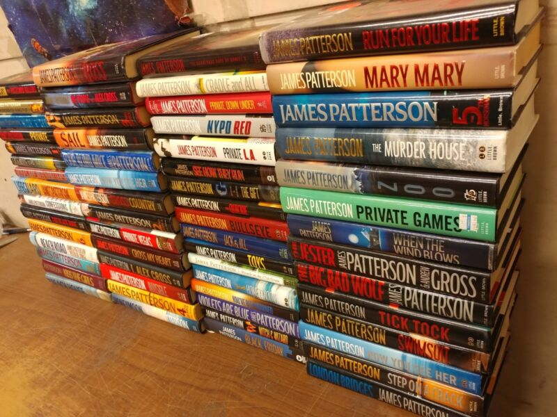 Lot of 10 JAMES PATTERSON Alex Cross Detective ALL Hardcover HB RANDOM Books MIX